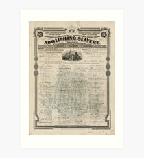 Abolishing Slavery Proposal for the 13th Amendment Art Print