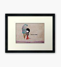 I love ice cream Framed Print