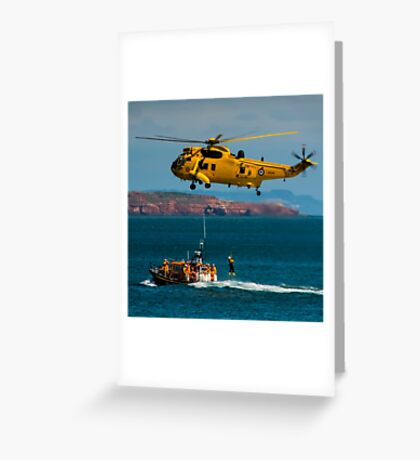 Rescue Practice at Dawlish Airshow Greeting Card