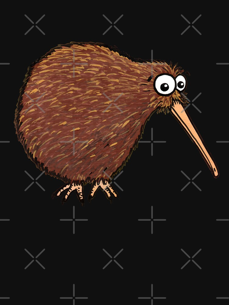 Cutest Kiwi - On Black by AdrienneBody