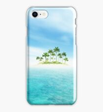 Ocean And Tropical Island With Palms iPhone Case/Skin