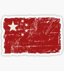 China Flag - Vintage Look Sticker