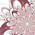 Fractal Flower - White by Scott Ferman