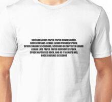 Rock, Paper, Scissors, Lizard, Spock Unisex T-Shirt