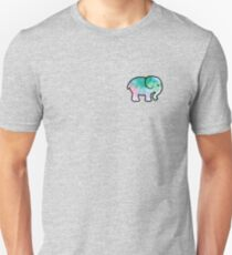 watercolor elephant design Slim Fit T-Shirt