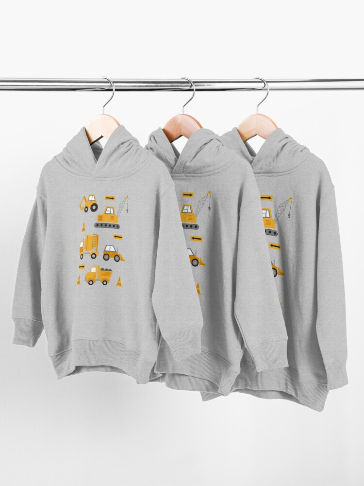 Alternate view of Construction Trucks  Toddler Pullover Hoodie