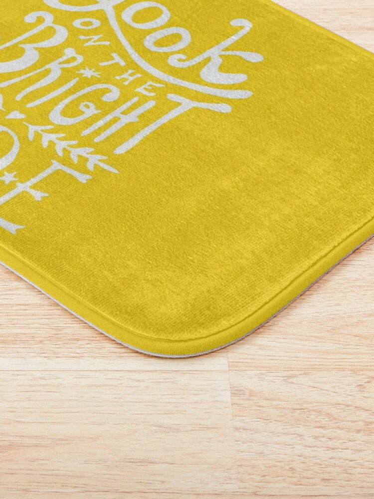 Alternate view of Look On The Bright Side Bath Mat