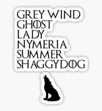 Stark Direwolves Sticker