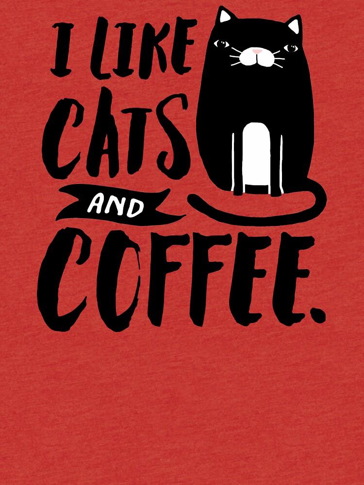 Me gustan los gatos y el café. de TheLoveShop