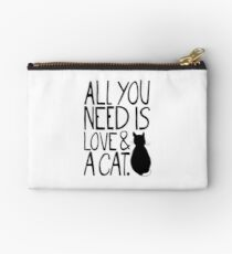 All You Need Is Love and A Cat Zipper Pouch