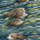 Otters by Andrea Gabriel