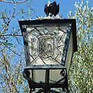Streetlight with Javea town crest by Fay  Hughes