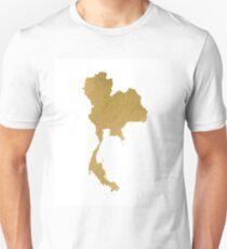 Gold Thailand map T-Shirt
