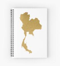 Gold Thailand map Spiral Notebook