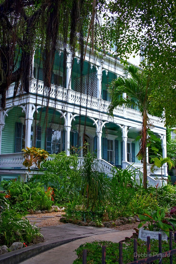 House on Duvall St - Key West, Florida by Debbie Pinard