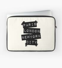 Paris. London. New York City. Laptoptasche