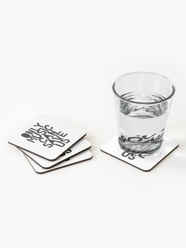 Alternate view of Only Music Can Save Us! Coasters (Set of 4)