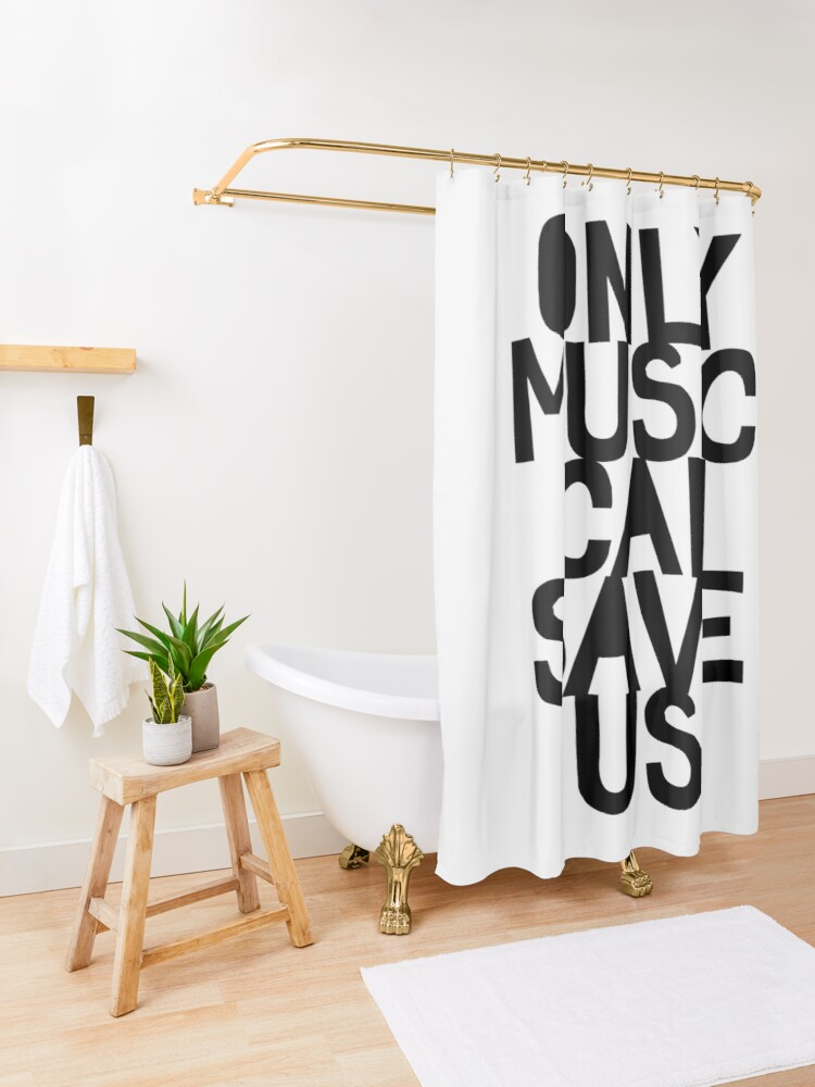 Alternate view of Only Music Can Save Us! Shower Curtain