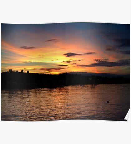 Sunset over Starcross Poster