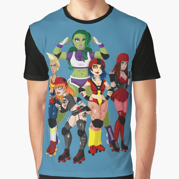 The Avenging Derby Girls Graphic T-Shirt