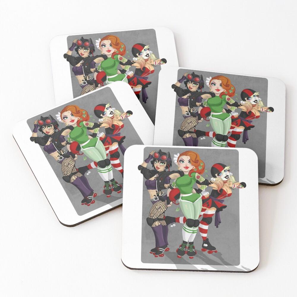 Derby Villains Coasters (Set of 4)