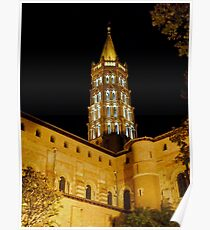 Saint Sernin at night Poster