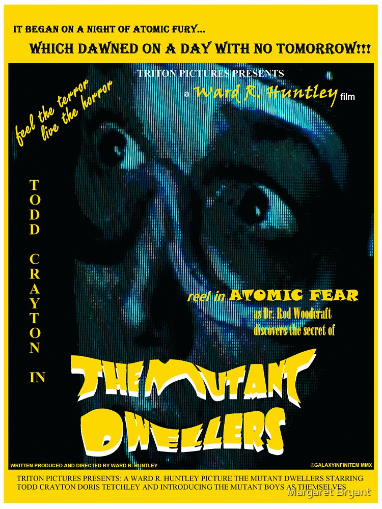 The Mutant Dwellers Movie Poster by Margaret Bryant