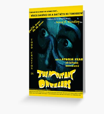 The Mutant Dwellers Movie Poster Greeting Card