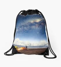 Camping in a fairytale Drawstring Bag