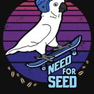 Need for Seed - skater Cockatoo doodle by FandomizedRose