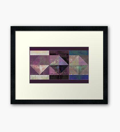Geo of Fall Framed Print