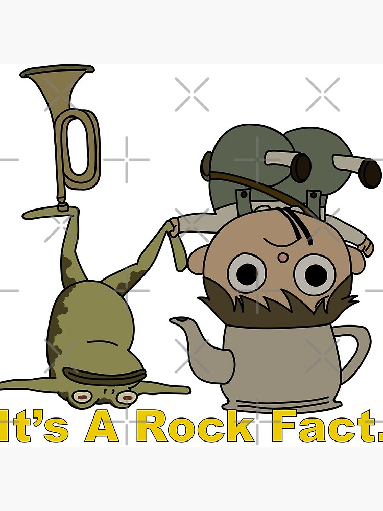 Greg and pet Frog. It's a Rock Fact.  by Maeveykinzz