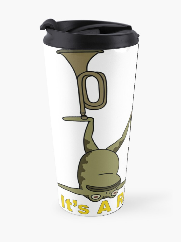 Alternate view of Greg and pet Frog. It's a Rock Fact.  Travel Mug