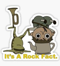 Greg and pet Frog. It's a Rock Fact.  Sticker