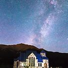 Perseid Meteor Shower and Chapel On The Rock by Bo Insogna