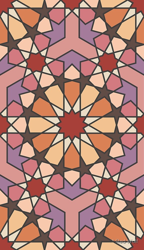 Geometric Pattern: Arabic Tiles: Autumn by * Red Wolf
