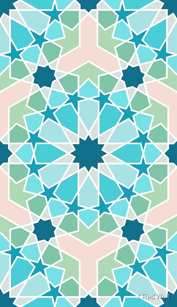 Geometric Pattern: Arabic Tiles: Spring by * Red Wolf
