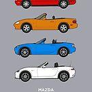 Mazda MX-5 / Miata / Eunos 30th Classic Car Collection  by RJWautographics
