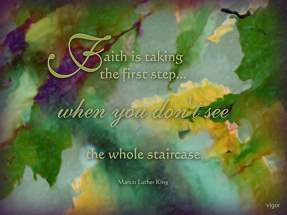 faith is - wisdom saying no. 10 by vigor