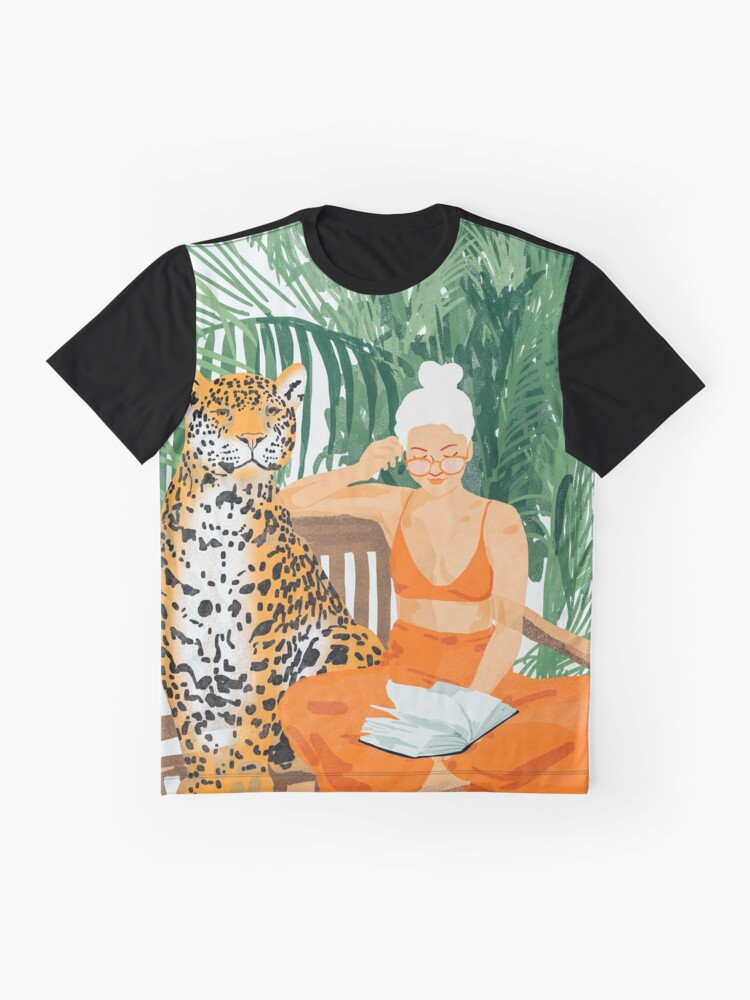 Alternate view of Jungle Vacay II #painting #illustration Graphic T-Shirt