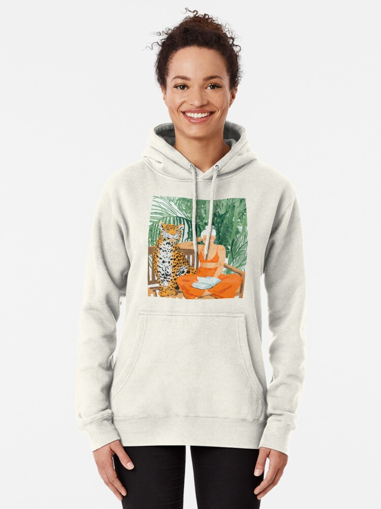 Alternate view of Jungle Vacay II #painting #illustration Pullover Hoodie