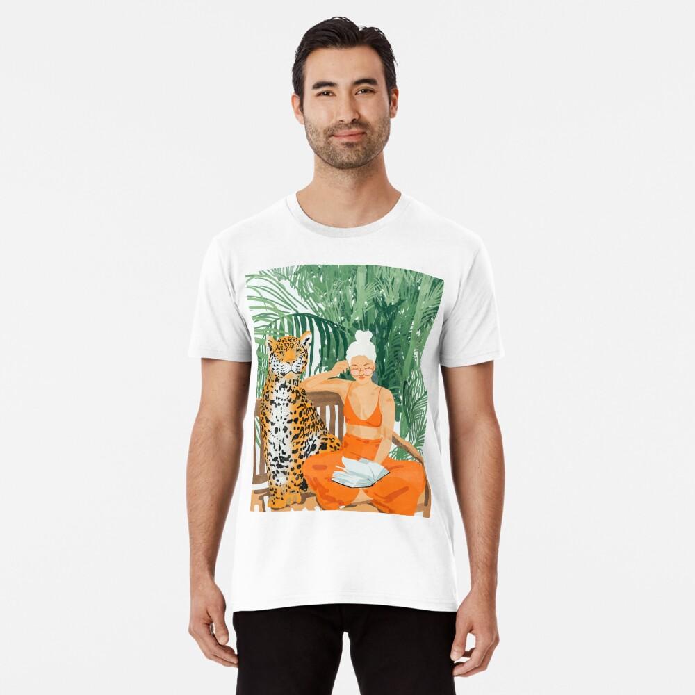Jungle Vacay II #painting #illustration Premium T-Shirt