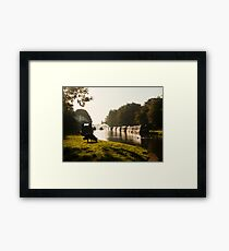 Autumn morning - Grand Union Canal, Cosgrove Framed Print