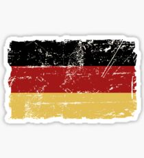 German Flag - Vintage Look Sticker