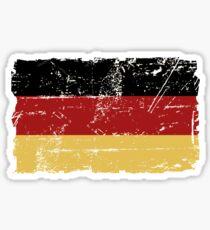 German Flag - Vintage Look Sticker