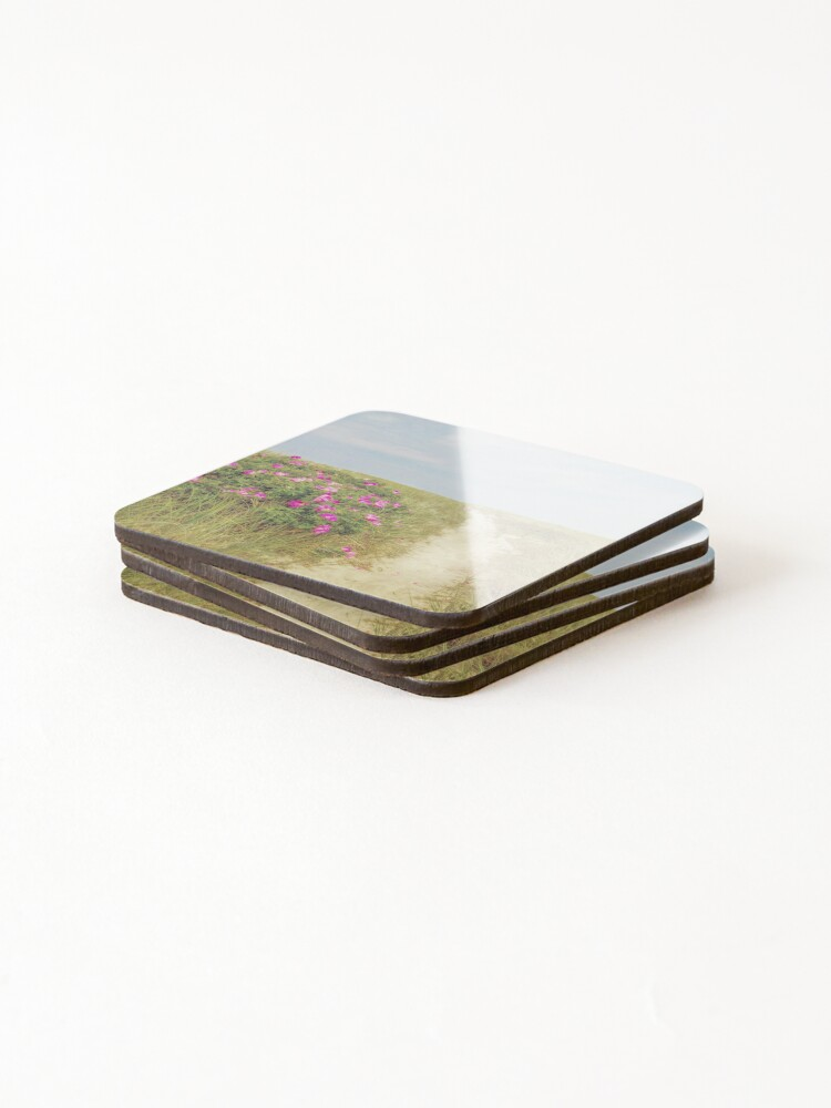 Alternate view of Beach Roses and Sandy Trail  Coasters (Set of 4)