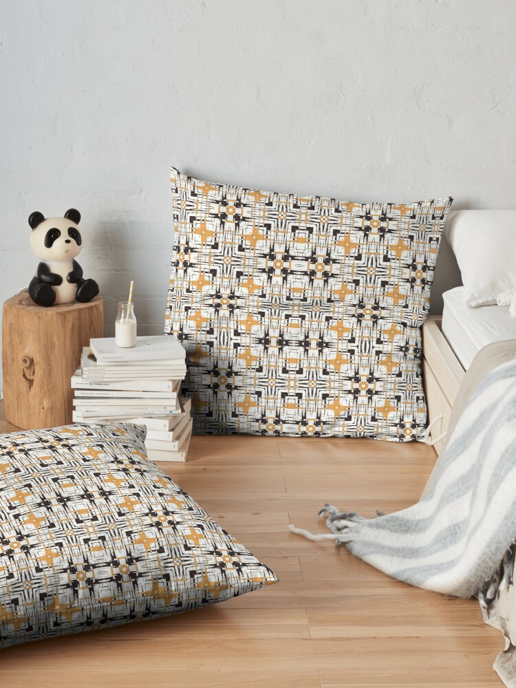 Alternate view of Digital abstract geometric Floor Pillow