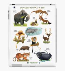 Endangered Mammals of India iPad Case/Skin