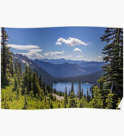 Dewey Lake Mt Rainier National Park Poster