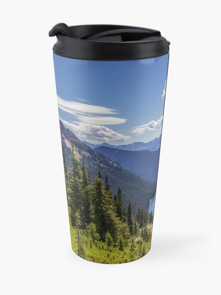Vista alternativa de Taza de viaje Parque Nacional Dewey Lake Mt Rainier